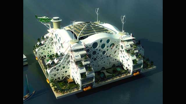 ciudad flotante de Seasteading