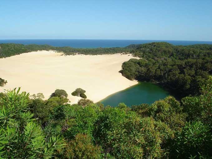 duna de arena de la isla Fraser, Australia