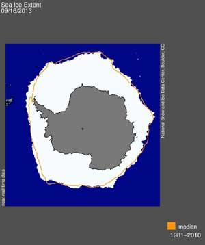 extensión hielo marino de la Antártida septiembre 2013