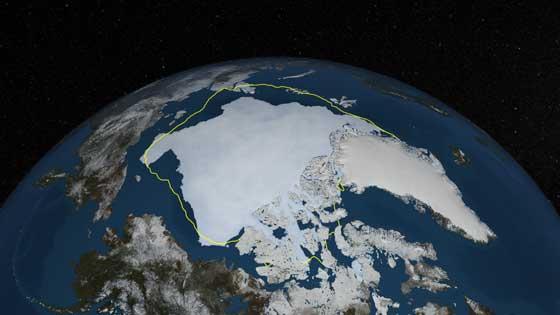 hielo marino del Ártico el 13-09-2013