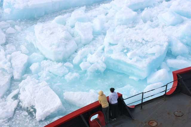 científicos observan en el Ártico hielo marino de varios años