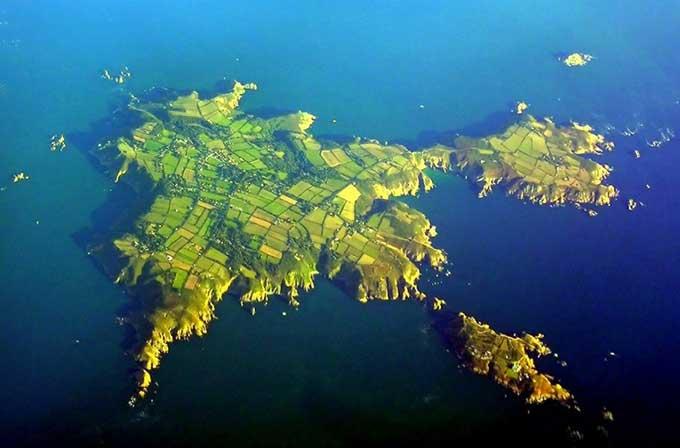 Isla de Sark, en la costa de Normandia