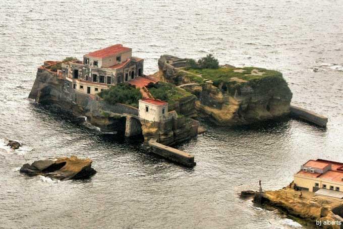 isla Gaiola - Italia, vista aérea