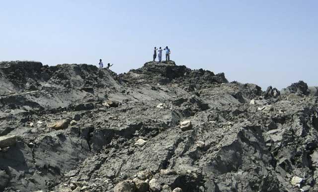 dentro de la nueva isla tras el terremoto de Pakistán