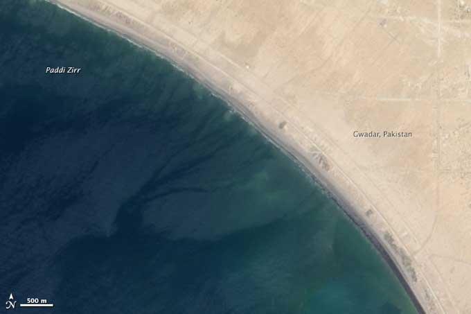 zona de costa de Gwadar anters del terremoto