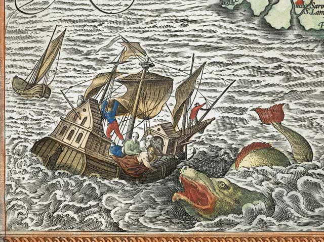 Jonas arrojado por la borda (Ortelius)