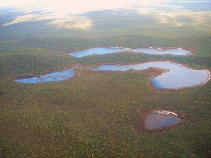 lagos de agua dulce en la isla Fraser