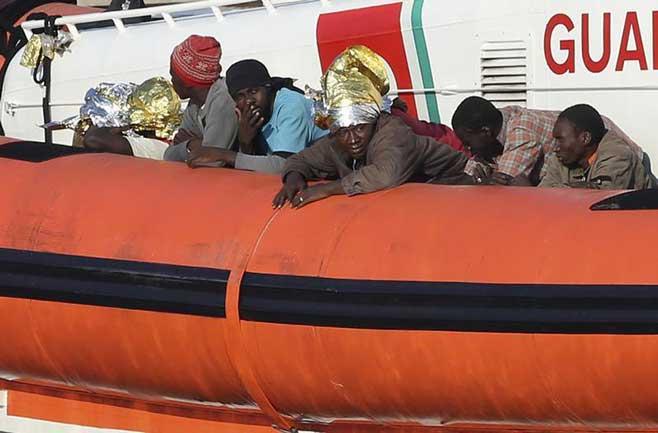 Lampedusa, emigrantes