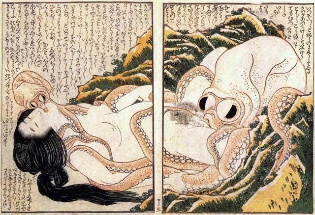 grabado japonés Tako a Ama