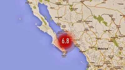 terremoto 6,8 en Baja California Sur, México