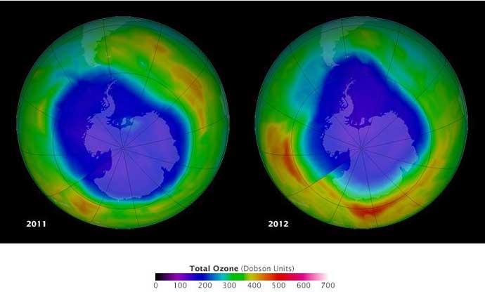 agujeros capa de ozono 2011-2012