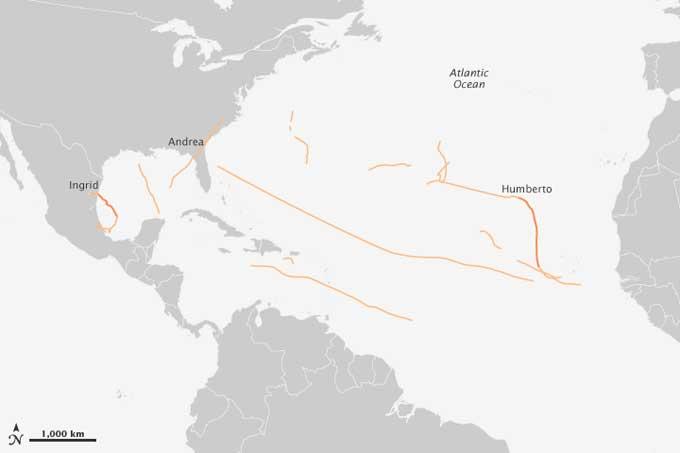 temporada de ciclones 2013 en el Atlántico