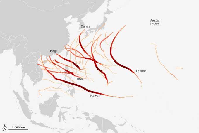 temporada de ciclones 2013 en el Pacífico