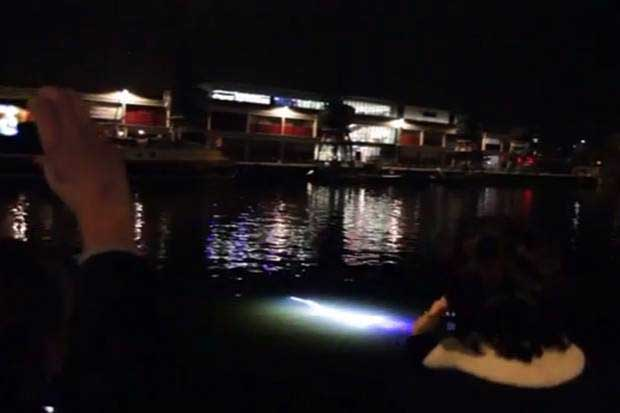 criatura marina alienígena en el puerto de Bristol