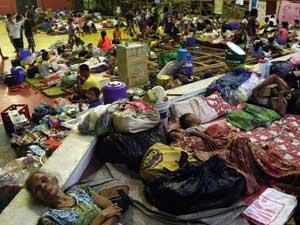 evacuados en Filipinas por el súper tifón Haiyan