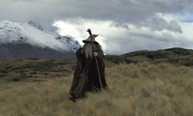 Gandalf en el Monte del Destino
