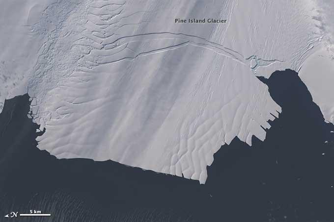 grieta en el glaciar Pine Island