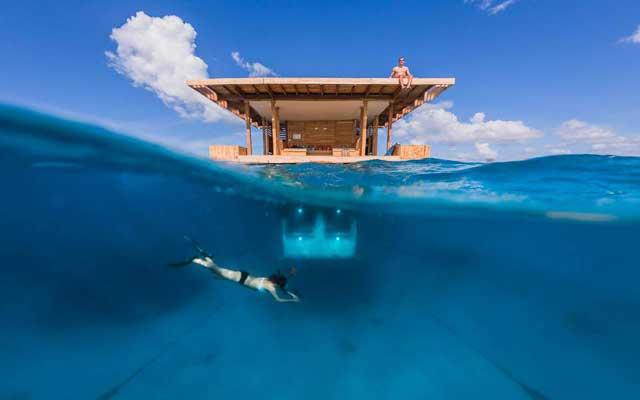 habitación submarina en Zanzibar