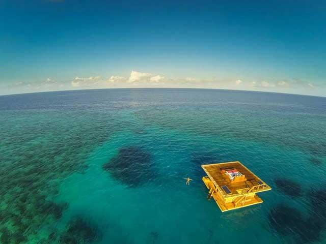 habitación submarina en Zanzibar, vista aérea