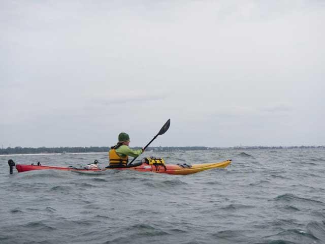 kayaker en el Golfo de México