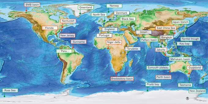 mapa de reservas de agua dulce submarinas