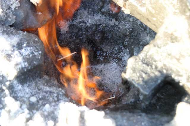 metano ardiendo en el Ártico