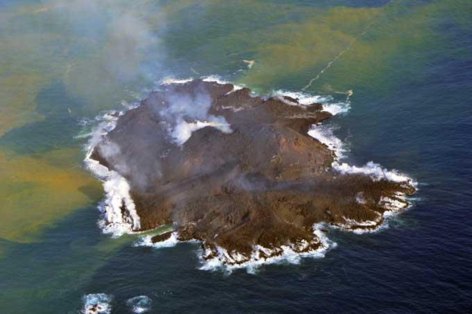 vista aérea de la isla de Niijima