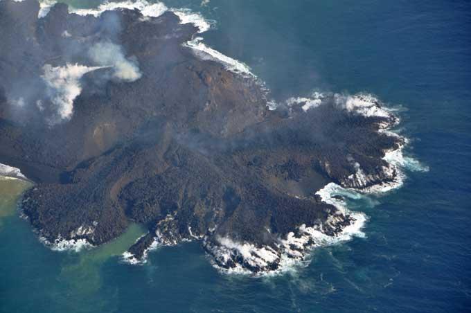 cono volcánico de la nueva isla de Niijima