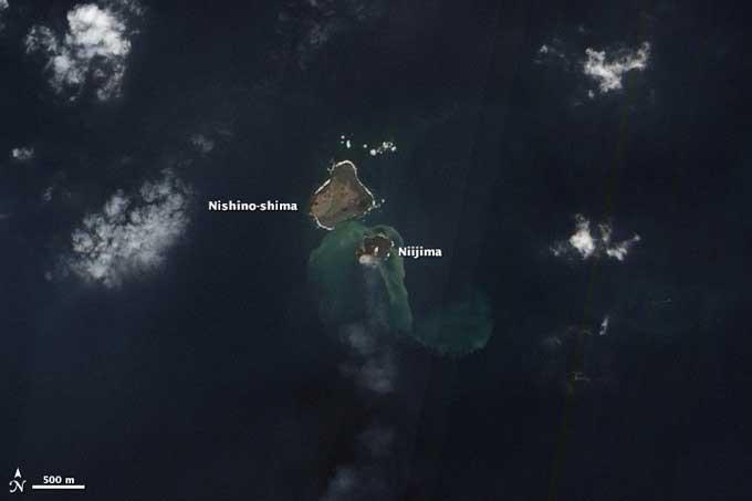 isla de Niijima desde satélite