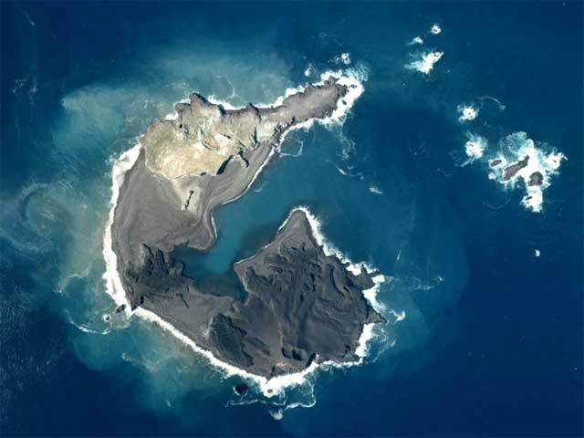 Nueva isla en Nishinoshima 1973
