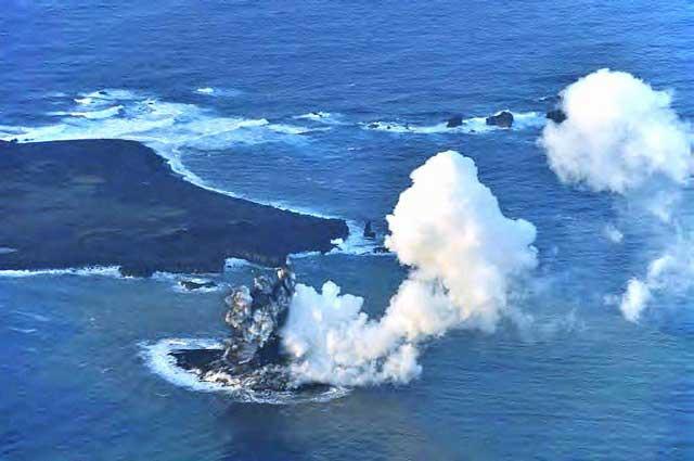 nueva isla volcánica en Japón