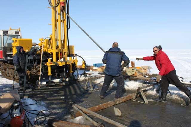 perforación para el estudio de metano en el Ártico