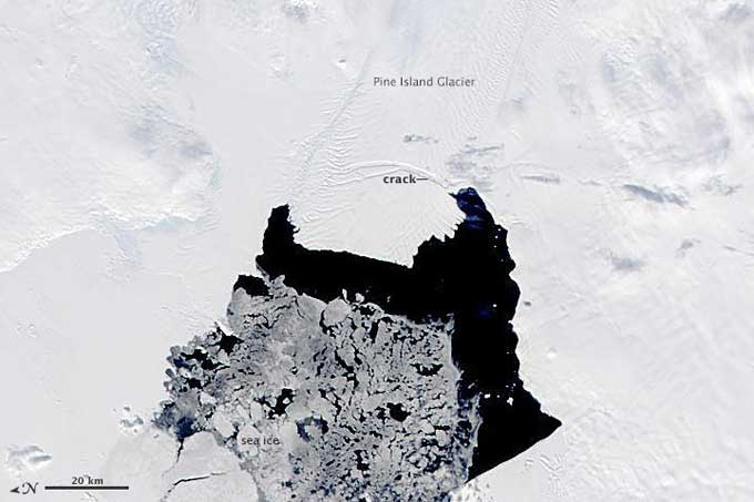 rotura glaciar Pine Island 3 de noviembre de 2013