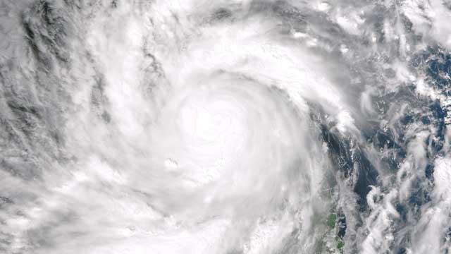 súper tifón Haiyan sobre la isla de Panay