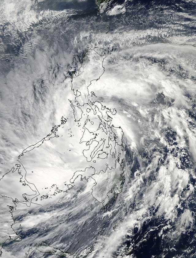 súper tifón Haiyan desde satélite 8-11-2013