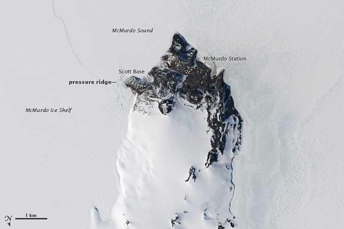 vista aérea de la estación McMurdo