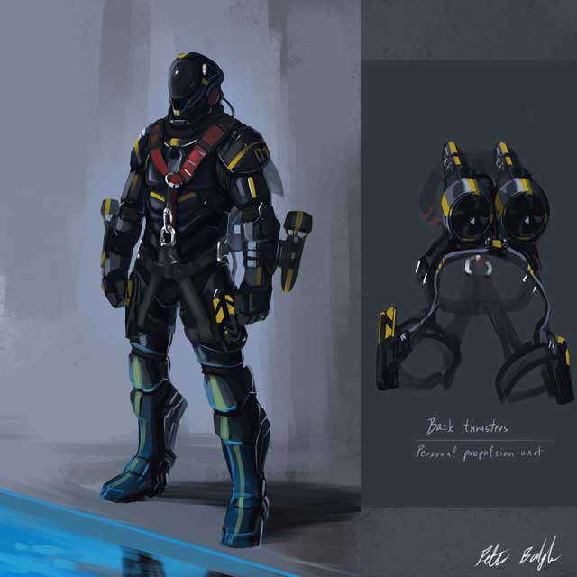 concepto final del x2 Underwater Jet Pack