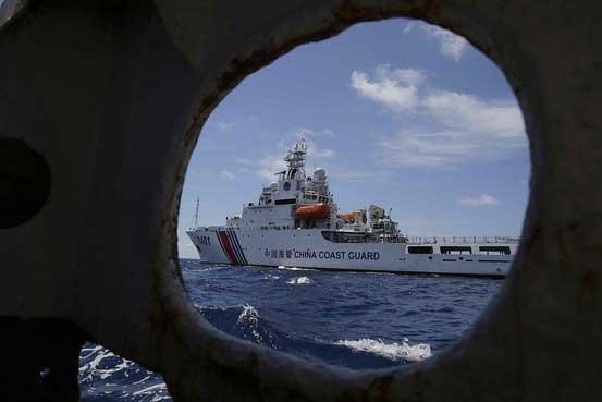 barco de la guardia costera China en el Second Thomas Shoal