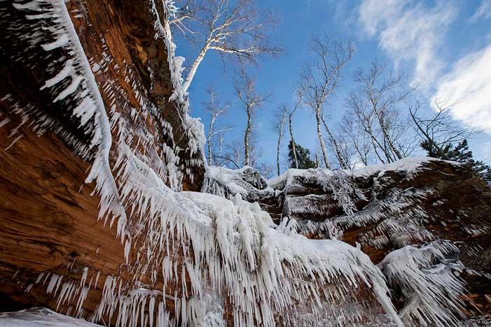 cascaca de hielo en Lago Superior