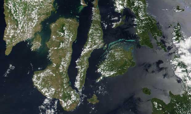 Danajon Bank desde satélite