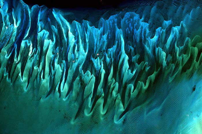 dunas submarinas en las Bahamas
