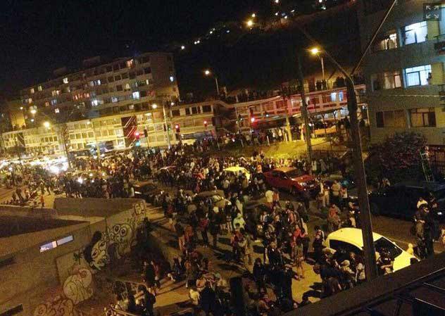 evacuación Chile por aviso de tsunami