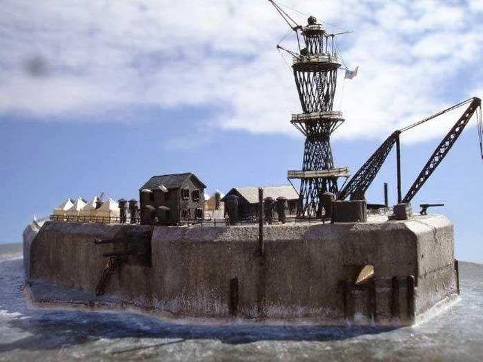 modelo 3D de Fort Drum