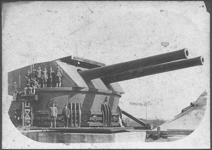 torreta de 14 pulgadas en Fort Drum