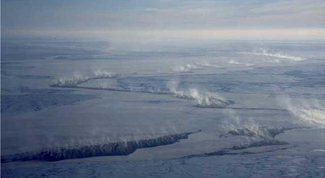 Grietas en el hielo marino Ártico dejan escapar mercurio a la atmósfera