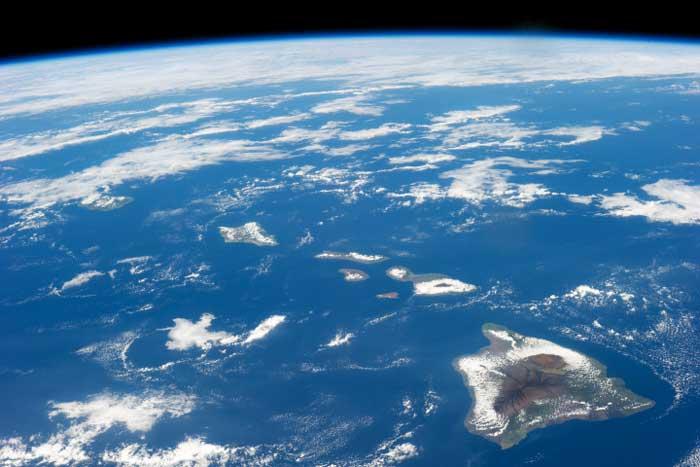 Isla de Hawái desde la Estación Espacial Internacional