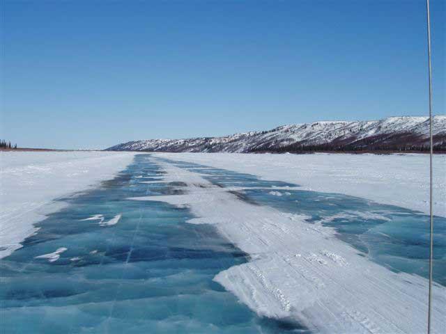 hielo marino desembocadura río Mackenzie