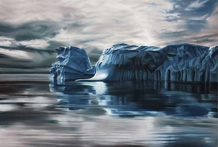 iceberg por Zaria Forman