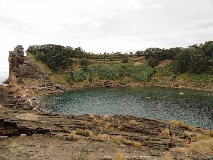 laguna del Islote de Vila Franca do Campo, Azores
