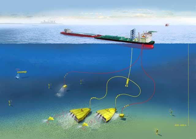 minería en el fondo del mar